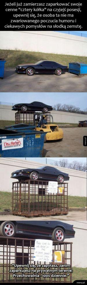 Zemsta za złe parkowanie