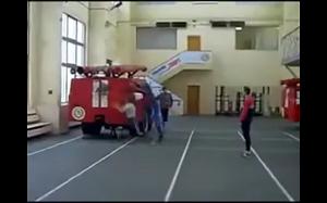 Trening strażaków