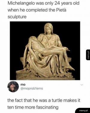 Nie tylko był ninja, ale i rzeźbiarzem
