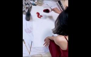 Obraz namalowany winem