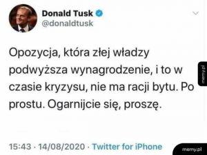 Nawet Tusk już jedzie po Platformie