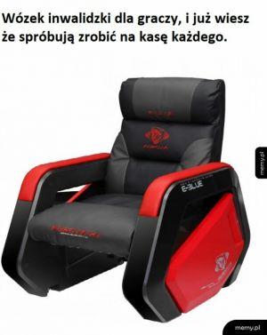 Wózek dla graczy