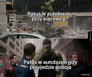 Patus w autobusie