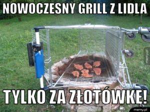 Nowoczesny grill z Lidla