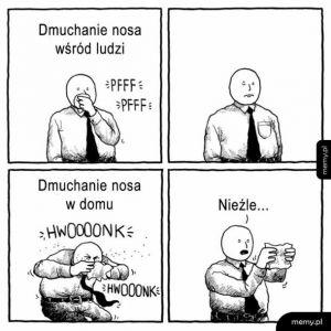 Dmuchanie nosa