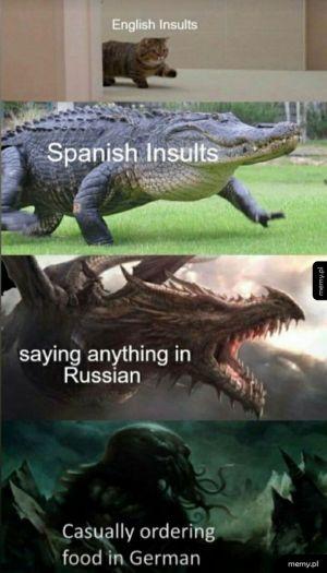 Obrażanie ludzi w różnych językach i tego brzmienie