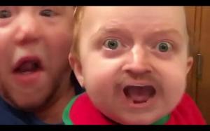 Zamiana twarzy ojca i syna :D