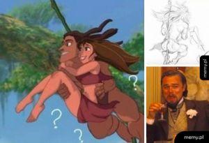 Umięśnione pośladki Tarzana