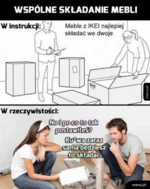 Składanie mebli z IKEA