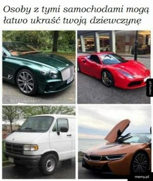 Te samochody...