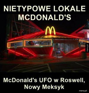 McDonald's inspirowany UFO