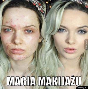 Magia makijażu.