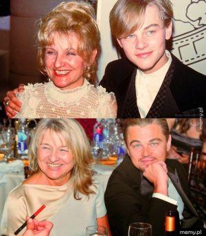 Leonardo jest coraz starszy, a jego matka coraz młodsza xD