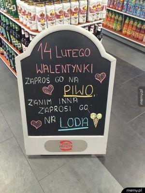 Walentynkowa reklama