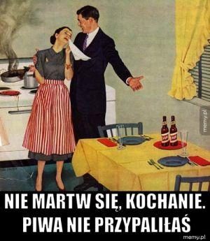Reklama piwa Schlitz z lat 40.