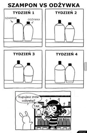 Szampon vs odżywka