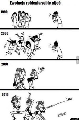 Ewolucja robienia sobie zdjęć