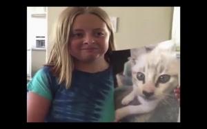 Reakcja kota na swoje zdjęcie