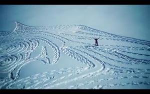 Obraz na śniegu