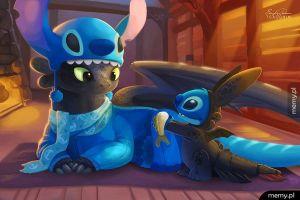 Szczerbatek i Stitch
