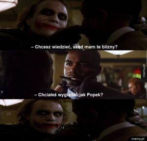Skąd się wzięły blizny u Jokera.