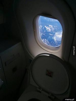 Piękny widok z toalety