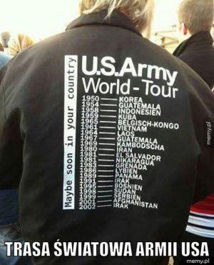 Trasa światowa armii USA.