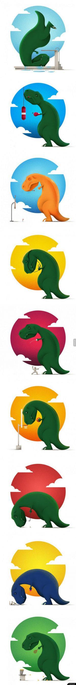 Ciężkie życie tyranozaura