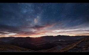 Wschód słońca w Nowej Zelandii