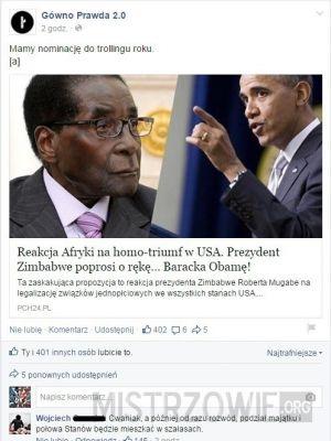Szczwany plan Mugabe.