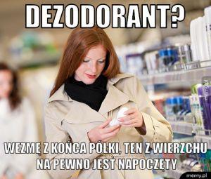 Kupowanie dezodorantu