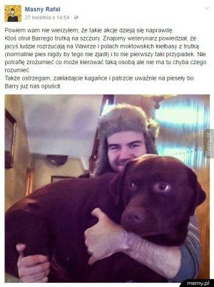 UWAGA! Właściciele psów, uważajcie na trutki!