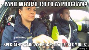 Specjalny rządowy program