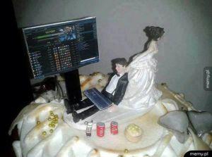 Tort ślubny.