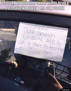 Proszę, nie rozbijaj okna.