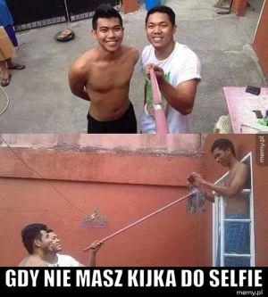 Gdy nie masz kijka do selfie.