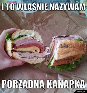Porządna kanapka