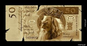 Banknot z Gandalfem