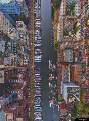 Amsterdam z lotu ptaka