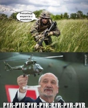 Wsparcie ministra obrony