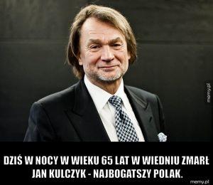 Nie żyje Jan Kulczyk.