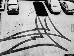 Manewry na parkingu