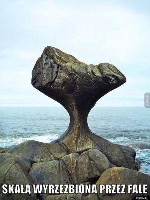 Kropla drąży skałę