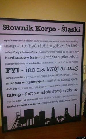 Słownik korpo-śląski