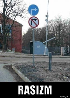 Nawet na znakach