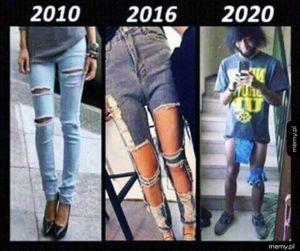 Ewolucja jeansów