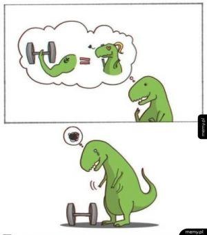 Marzenia zielonego dinozaura