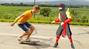 Wredny Ninja w akcji