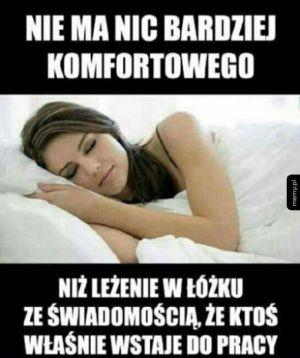 Leżenie w łóżku