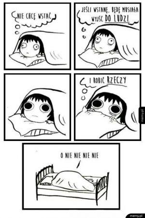 Dlaczego nie lubię wstawać